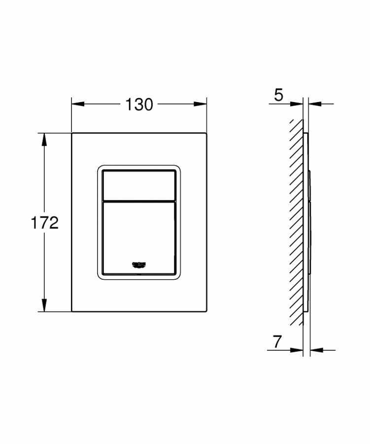 Grohe Gömme Rezervuar Kumanda Paneli Küçük ABS Krom - 37535000