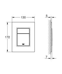 Grohe Gömme Rezervuar Kumanda Paneli Küçük ABS Krom - 37535000 - Thumbnail