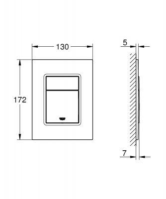 GROHE - Grohe Gömme Rezervuar Kumanda Paneli Küçük ABS Krom - 37535000 (1)