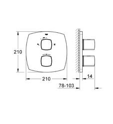 Grohe Ankastre Banyo Bataryası Termost. Grandera Krom - 19937000 - Thumbnail