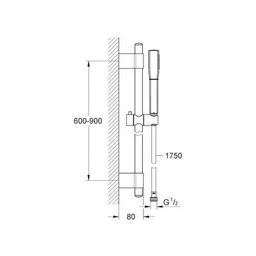 Grohe Grandera™ Stick Duş Sürgüsü Seti 1 Akışlı