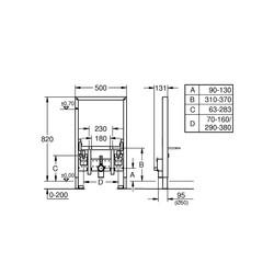 Grohe Asma Bide Taşıyıcı Sistemi - 38543000 - Thumbnail