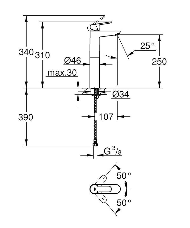 Grohe BauEdge Çanak Lavabo Bataryası - 23761000