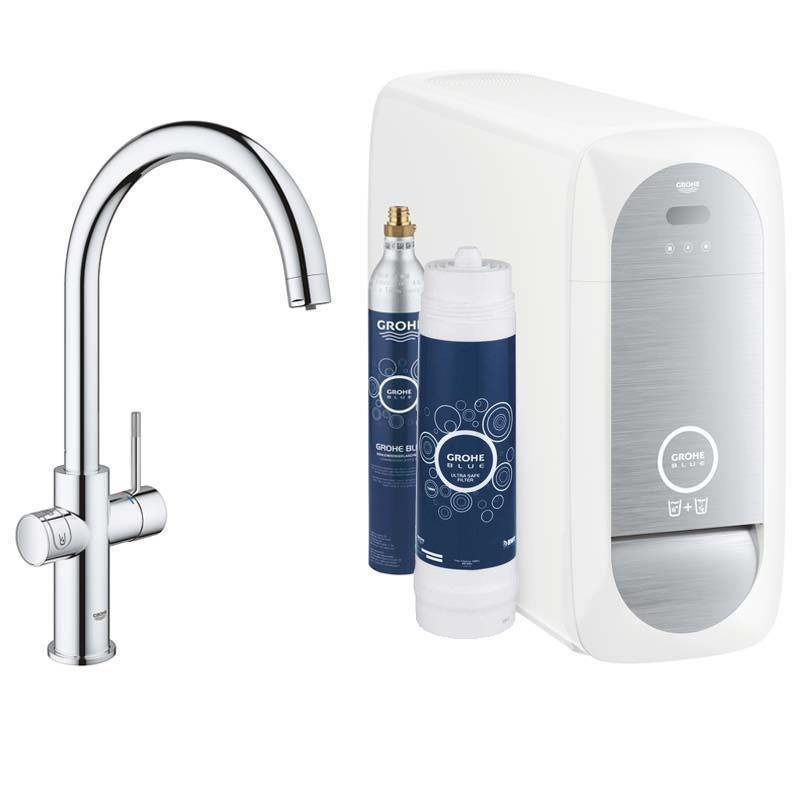 Grohe Blue Home Arıtmalı İçme Suyu ve Soda Yapan Eviye Bataryası
