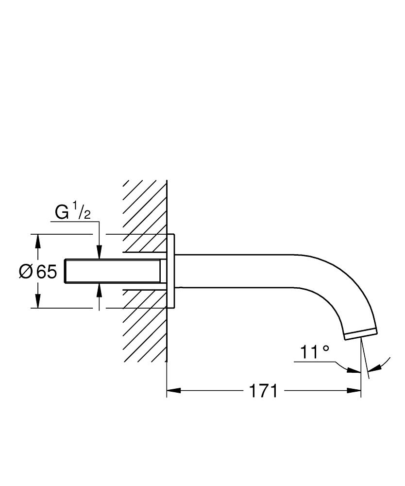 Grohe Çıkış Ucu Atrio Super Steel - 13139DC3