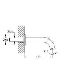 Grohe Çıkış Ucu Atrio Super Steel - 13139DC3 - Thumbnail