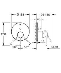 Grohe Essence Ankastre Banyo Duş Bataryası 2 çıkışlı divertörlü- 24058001 - Thumbnail