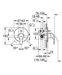 Grohe Eurosmart Ankastre Banyo Bataryası Seti – 33305002 - Thumbnail