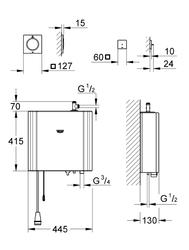 GROHE F-digital Deluxe Buhar Jeneratörü 6.6 kW - 27934000 - Thumbnail