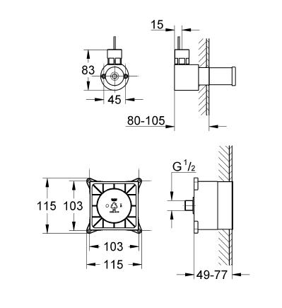 GROHE F-digital Deluxe Buhar Jeneratörü İçin İç Gövde - 29074000