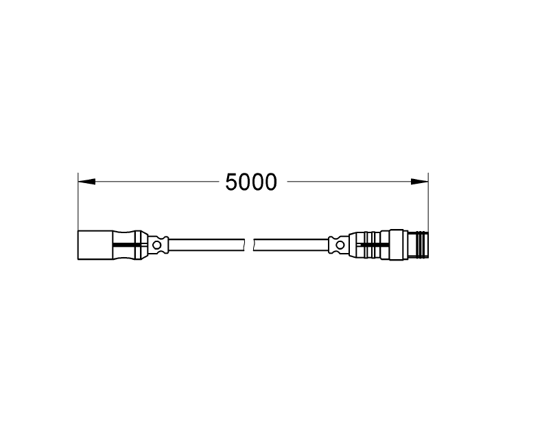 GROHE F-digital Deluxe Buhar jeneratörü için Uzatma Kablosu, 10 m - 47837000