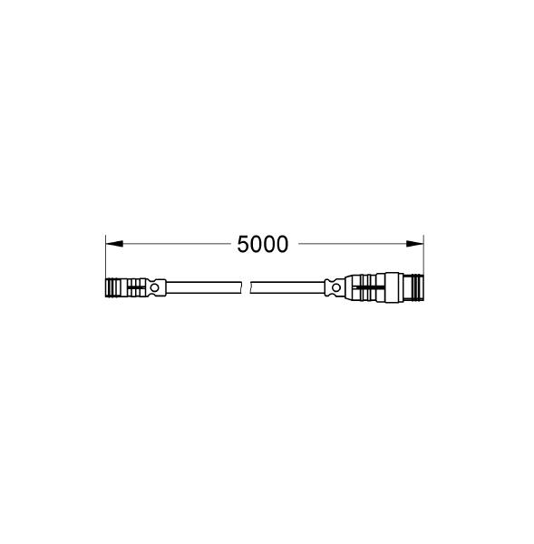 GROHE F-digital Deluxe Güç kaynağı için Uzatma Kablosu, 5 m - 47868000