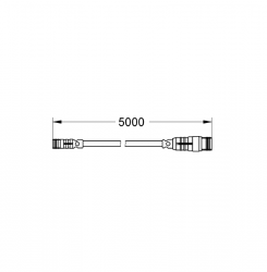 GROHE F-digital Deluxe Güç kaynağı için Uzatma Kablosu, 5 m - 47868000 - Thumbnail