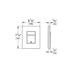 Grohe Gömme Rezervuar Kumanda Paneli ABS Br. Nickel - 38732EN0 - Thumbnail