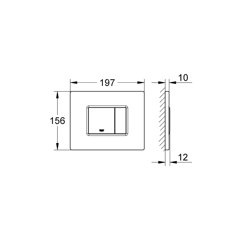 Grohe Gömme Rezervuar Kumanda Paneli ABS Hard Graphite - 38732A00