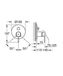 Grohe Plus Ankastre Banyo Duş Bataryası 3 çıkışlı divertörlü- 24093003 - Thumbnail