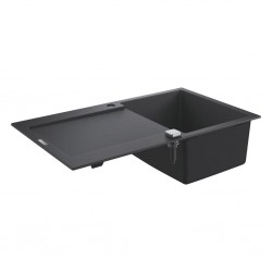 Grohe K500 Kuvars Kompozit Eviye 50 -C 86/50, Granit Siyah Rengi - 31644AP0 - Thumbnail