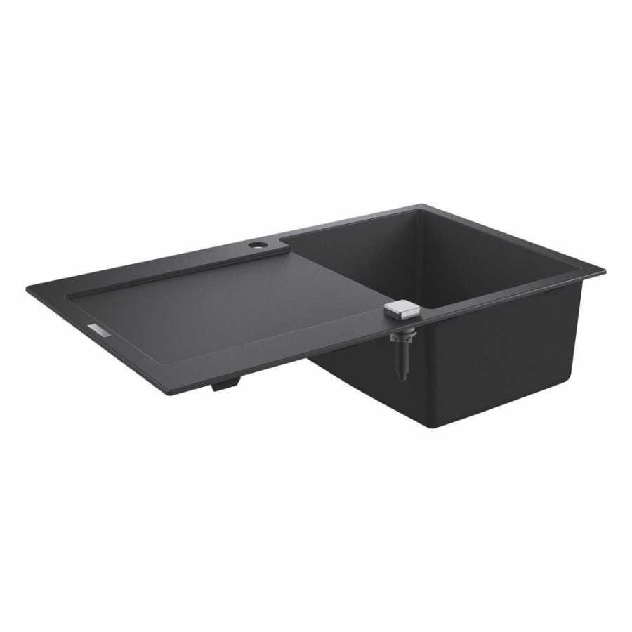 Grohe K500 Kuvars Kompozit Eviye 50 -C 86/50, Granit Siyah Rengi