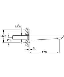 Grohe Lineare Çıkış Ucu- 13383001 - Thumbnail