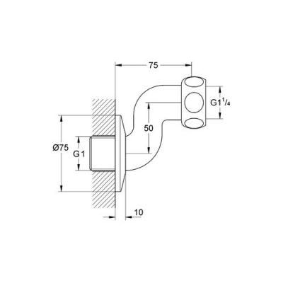 GROHE - Grohterm XL Ekzantrik Bağlantı Parçası - 12411000 (1)