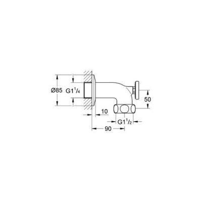 GROHE - Grohe Grohterm XL Termometreli Su Çıkış Bağlantı Parçası - 12444000 (1)