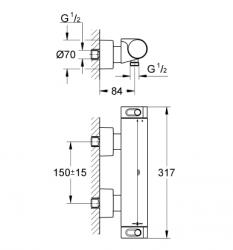 Grohtherm 2000 NEW Termostatik Duş Bataryası - Thumbnail