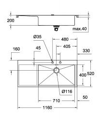 Grohe K1000 Damlalıklı Paslanmaz Çelik Eviye - Thumbnail