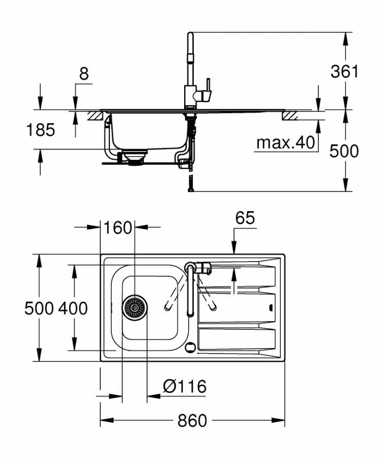 Grohe Concetto Eviye ve Batarya Seti - 31570SD0