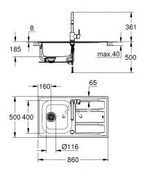 Grohe Concetto Eviye ve Batarya Seti - 31570SD0 - Thumbnail