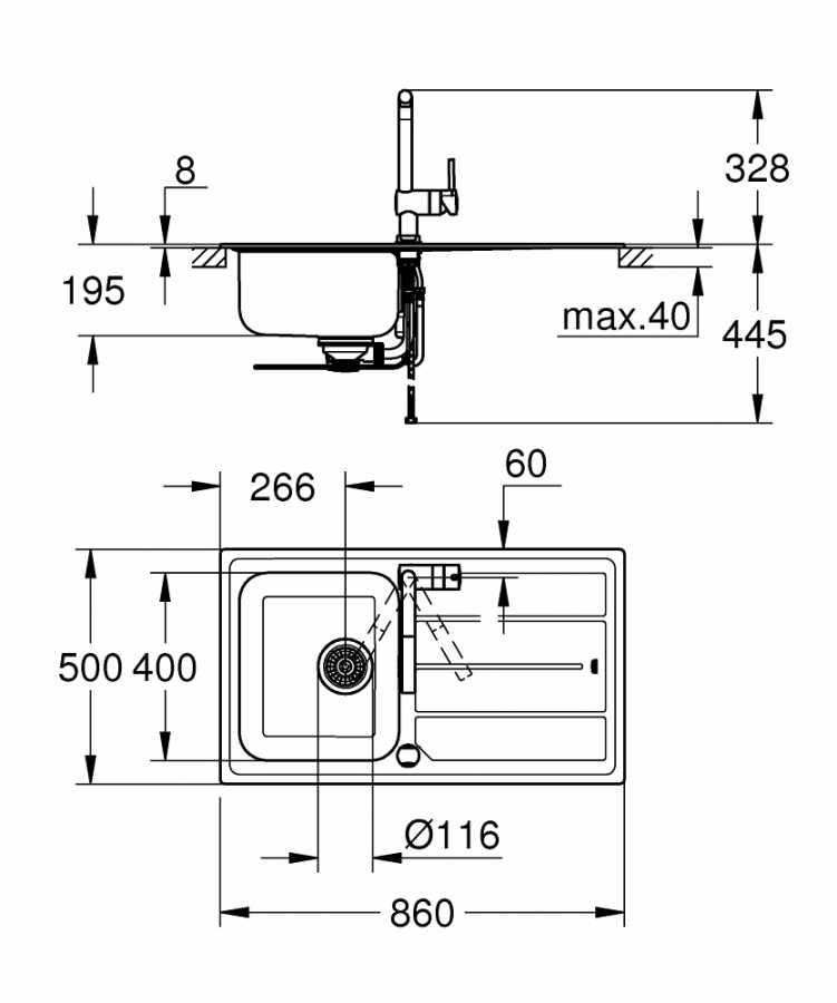 Grohe Minta Eviye ve Batarya Seti - 31573SD0