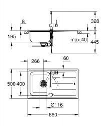 Grohe Minta Eviye ve Batarya Seti - 31573SD0 - Thumbnail