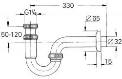Grohe Lavabo Sifon altı esi 330 mm - 28961000 - Thumbnail