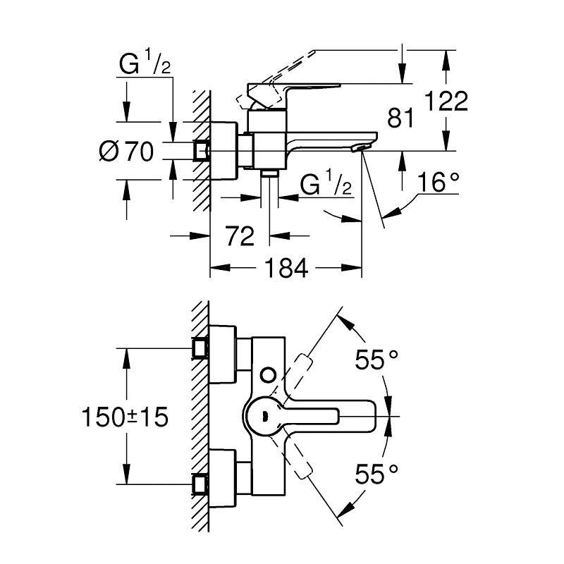 Grohe Lineare New Tek Kumandalı Duş Bataryası