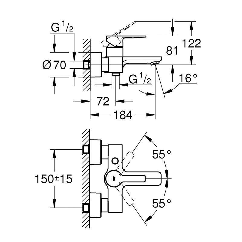Grohe Lineare New Tek Kumandalı Duş Bataryası - 33849001