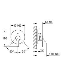 Grohe Lineare New Ankastre Banyo/Duş Bataryası - Thumbnail