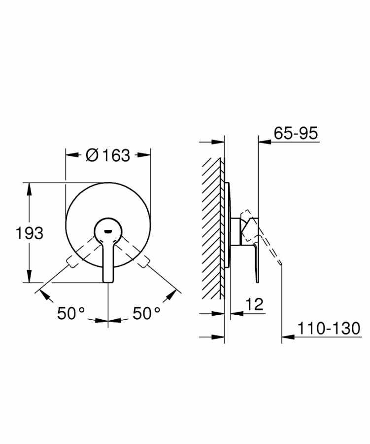 Grohe Lineare Ankastre Duş Bataryası 19296001