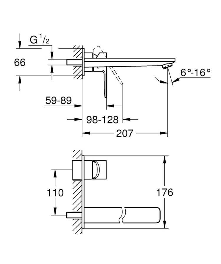 Grohe Lineare New İki Delikli Lavabo Bataryası L-Boyut - 23444DC1