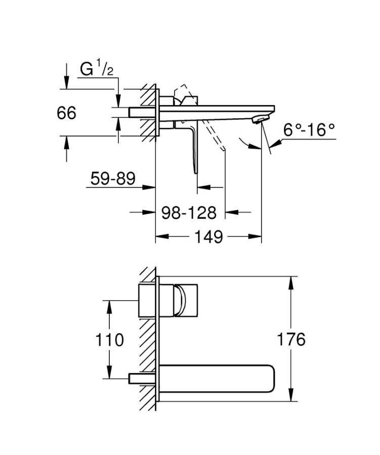 Grohe Lineare New İki Delikli Lavabo Bataryası