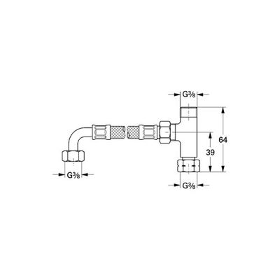 GROHE - Grohe Mikro Termostat için T ve Esnek Boru - 47533000 (1)