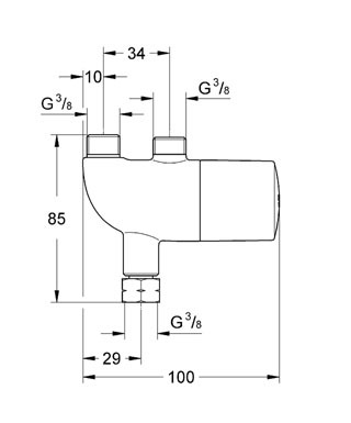 Grohe Grohterm Mikro Termostat - 34487000