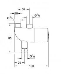 Grohe Grohterm Mikro Termostat - 34487000 - Thumbnail