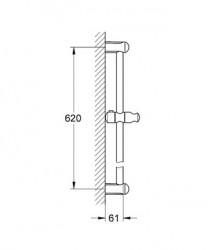 Grohe New Tempesta Duş Sürgüsü 600 mm - 27523000 - Thumbnail