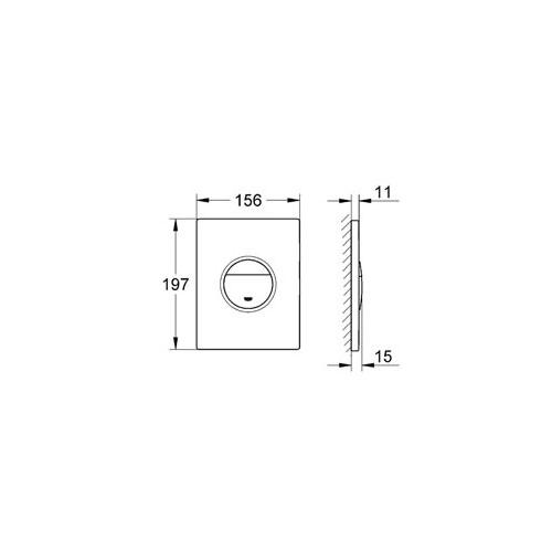 Grohe Gömme Rezervuar Kumanda Paneli ABS Krom / Baskılı- 38847XG0