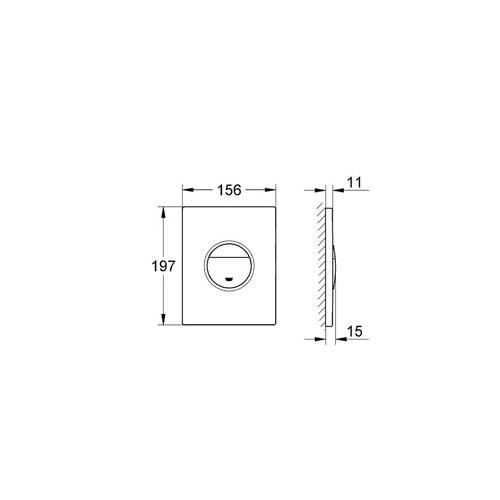 Grohe Gömme Rezervuar Kumanda Paneli ABS Krom - 38765000