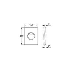 Grohe Nova Cosmopolitan Light Gömme Rezervuar Kumanda Paneli Işıklı - 38809000 - Thumbnail