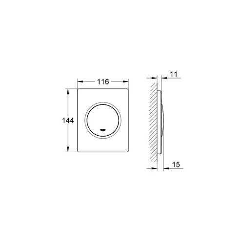 Grohe Ankastre Pisuar Valf Paneli Manuel ABS Krom - 38804000