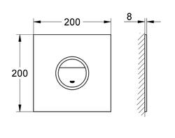 Grohe Gömme Rezervuar Kumanda Paneli Led Işıklı Siyah - 38915KS0 - Thumbnail