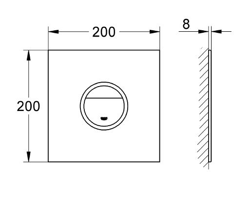 Grohe Ondus® Digitecture Light Gömme Rezervuar Kumanda Paneli Işıklı - 38915LS0