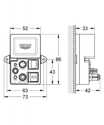 GROHE - Grohe Rainshower F-digital Deluxe Bluetooth Unitesi BT-01A Apple ve Android Cihazlar İçin - 36371000 (1)