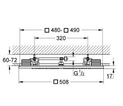 Grohe Rainshower F Işık Modüllü Tepe Duşu 50x50 cm - 27865000 - Thumbnail